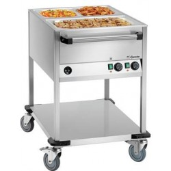 Chariot bain marie 2 cuves...