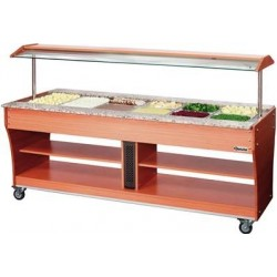 Chariot buffet chaud 6GN