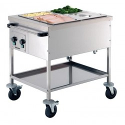 Chariot bain marie GN 2 x...