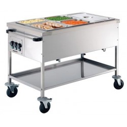Chariot bain marie GN 3 x...