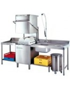 Lave vaisselle à capot - table de glissement - table de tri
